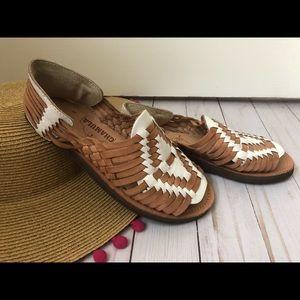 Chamula Chicken (Madewell) Huarache Sandals, 5
